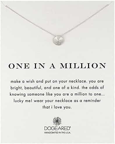 Dogeared Reminders Sand Dollar Charm Necklace, 18