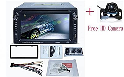 Klarheit 2 Din 6.2 Inch Dash Car Stereo CD DVD Player FM Stereo Radio USB Port SD Card Slot Bluetooth+Free Backup Camera
