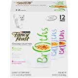 Purina Fancy Feast Broths Creamy Collection Wet Cat Food Complement Variety Pack - (12) 1.4 Oz. Pouches