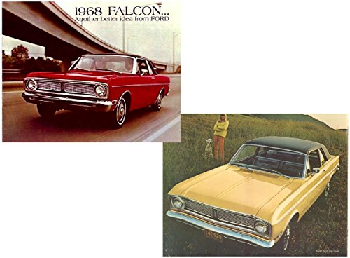 1968 FORD FALCON & FALCON FUTURA VINTAGE COLOR SALES BROCHURE - 12-67 REVISED - USA - BEAUTIFUL ORIGINAL !!