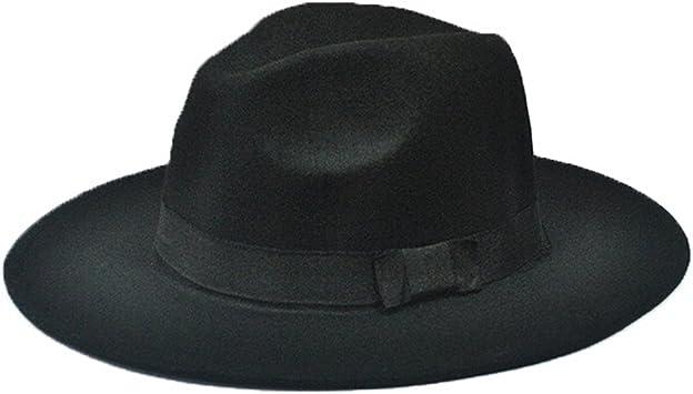 Bleu Casquette Jazz Design Mode et /Él/égant Chapeau /à Larges Bords Doitsa Chapeaux Fedora et Trilby pour Homme Femme