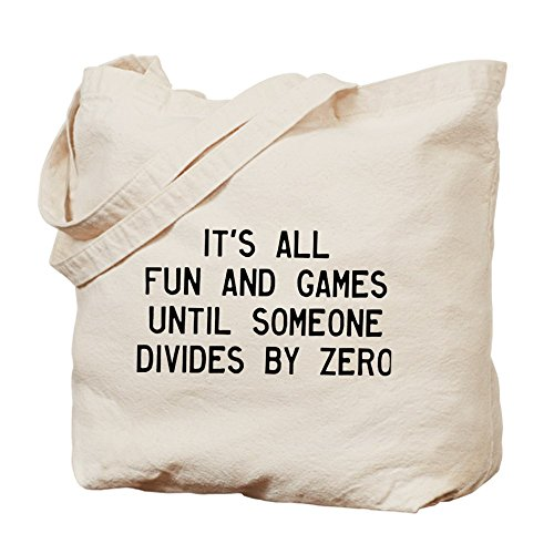 Great Divide Fabric (CafePress - Fun And Games Divide By Zero - Natural Canvas Tote Bag, Cloth Shopping Bag)