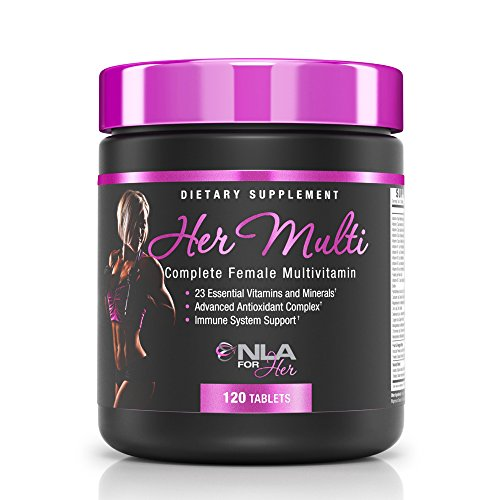 - NLA for Her - Her Multi - Complete Female Multivitamin - 23 Essential Vitamins and Minerals, Advanced Antioxidant Complex, Immune System Support - 120 Tablets