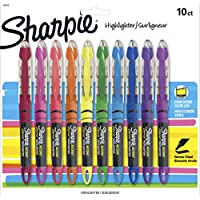 10 Count Sharpie Chisel Tip Liquid Highlighters (Assorted Colors)