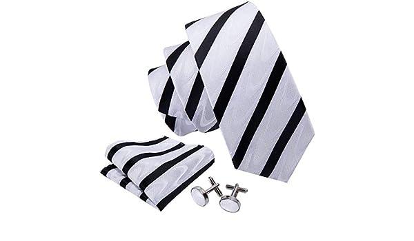 Hi-Tie - Corbata - para hombre Blanco negro, blanco Talla única ...