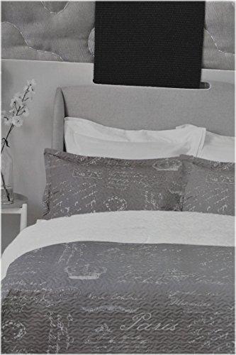 American Chateau Paris French Design Grey/Beige 3 Piece Queen/Full Quilt Set (1 Quilt & 2 - Chateau Quilt