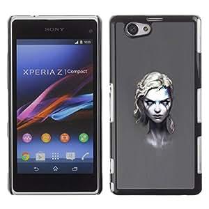 All Phone Most Case / Oferta Especial Duro Teléfono Inteligente PC Cáscara Funda Cubierta de proteccion Caso / Hard Case Xperia Z1 Compact D5503 // Goth Girl