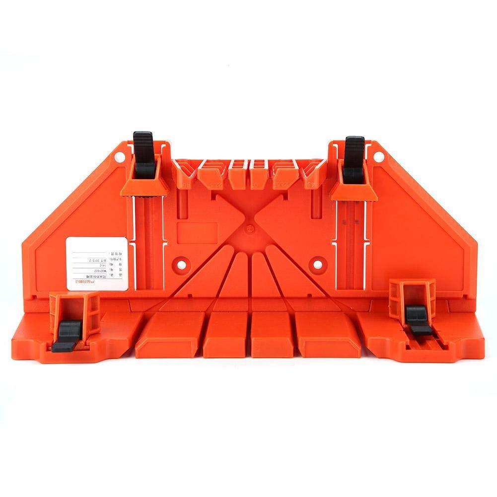 la Mano de Corte de Madera VIO la Herramienta de Hardware 14 Pulgadas con Abrazadera la Caja de inglete de pl/ástico Kireina La Caja de ingletes para carpinter/ía la poda VIO