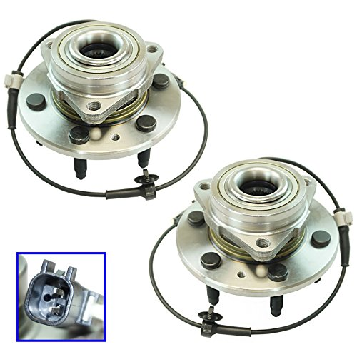 Front Wheel Bearing & Hub Assembly LH RH Pair Set of 2 for Cadillac Chevy GMC ()