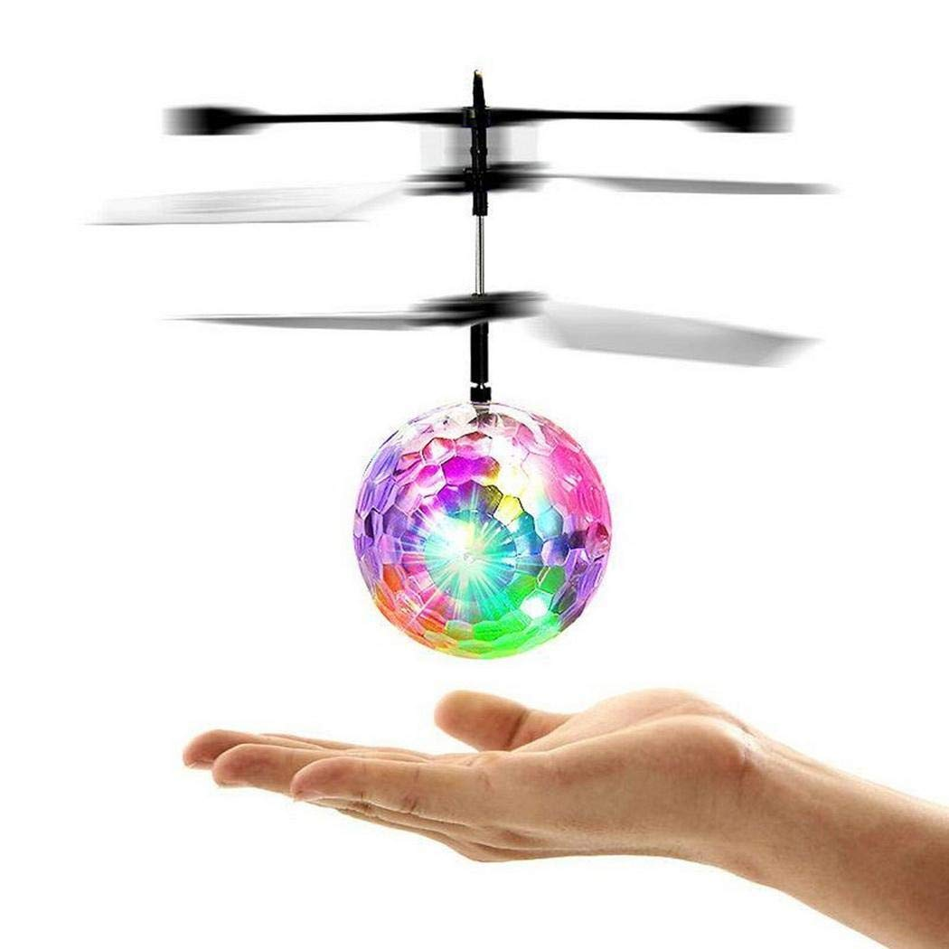 Fanxis Flying Ball Toys, RC Toy for Kids Boys Girls Gifts Rechargeable Light Up Ball Drone Infrared Induction Helicopter with Remote Controller for Indoor and Outdoor Games