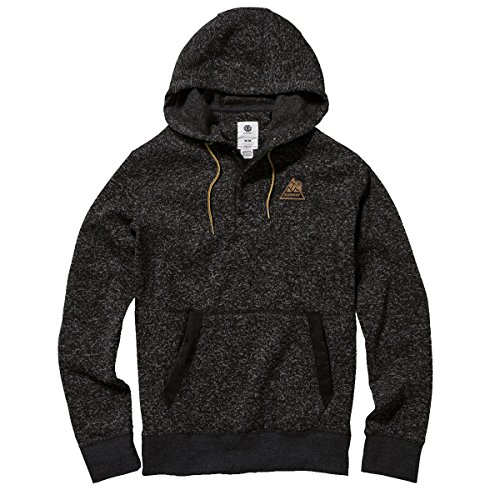 Element Men's Highland Pullover Fleece Hoody, Flint Black, (Element Hooded Pullover)