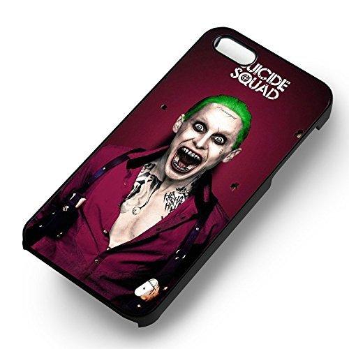 Suicide Squad Joker Fanart pour Coque Iphone 6 et Coque Iphone 6s Case (Noir Boîtier en plastique dur) J0R4ES