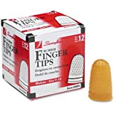 Swingline Products - Swingline - Rubber Finger Tips, Size 11 1/2, Medium, Amber, 12/Pack - Sold As 1 Dozen - Tough, high quality tips last a long time. - Surface nubs ensure positive grip. - Extra thick material at tip for longer wear. - High grade rubber for added durability. -