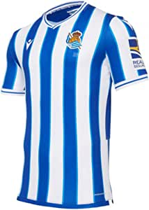Macron Real Sociedad Primera Equipación Authentic 2020-2021, Camiseta, Royal-White: Amazon.es: Deportes y aire libre