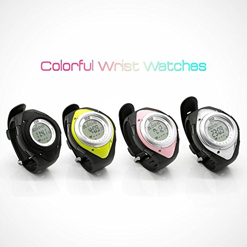 Pyle Sports Tracker Watch Heart Monitor Wristband Pedometer Activity Tracker Steps Counter Stop Resistant Zones - PHRM38SL