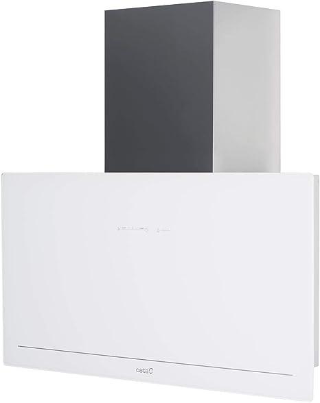 Cata - Campana extractora, Modelo GOYA 90 WH, 5 velocidades de extracción, Cocina 820m3/h - 200m3/h, Acabado en cristal Negro/Blanco, [Clase de eficiencia energética A+]: 388.66: Amazon.es: Grandes electrodomésticos