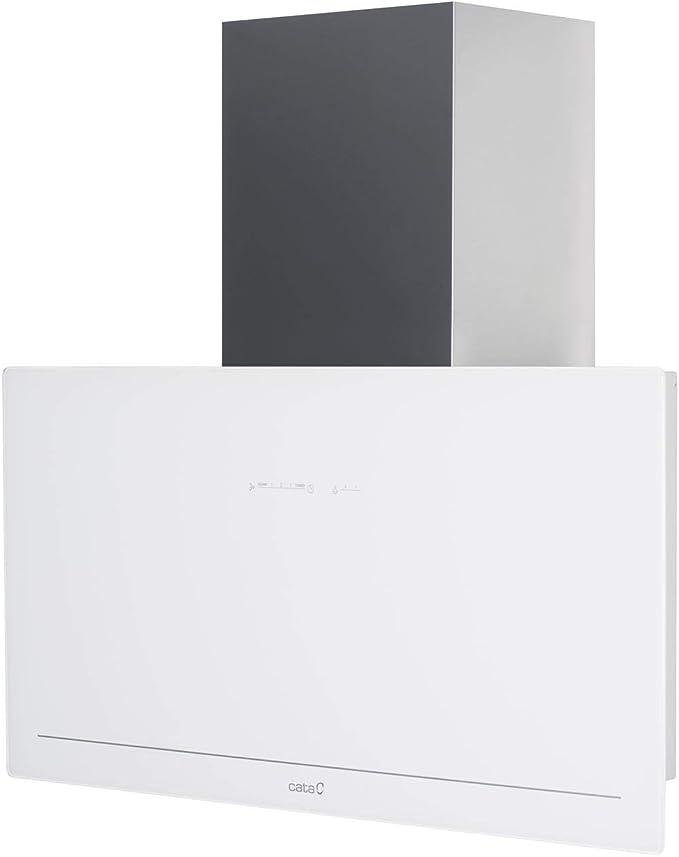 CATA | campana extractora | Modelo GOYA 90 WH | 5 velocidades de extracción | campana extractora cocina 820m3/h - 200m3/h | Acabado en cristal negro/blanco | [Clase de eficiencia energética A+]: 394.69: Amazon.es: Grandes electrodomésticos