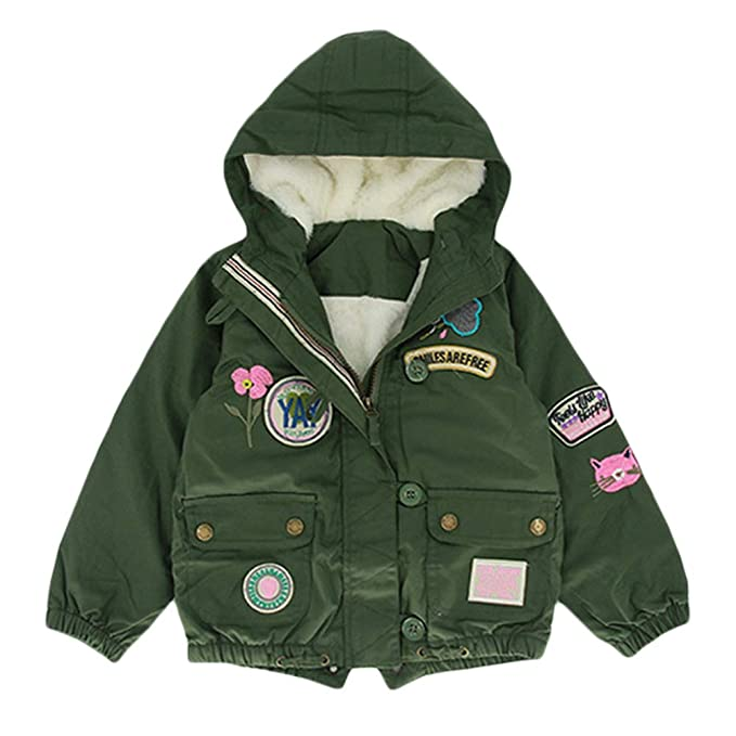 Amazon.com: Chaqueta de invierno para bebés con capucha ...