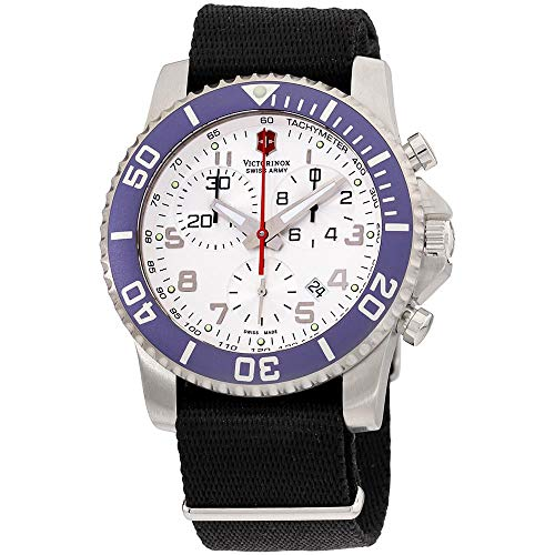 Amazon.com: Victorinox Swiss Army Mens 241051 Maverick II Chronograph White Dial Watch: Swiss Army: Watches