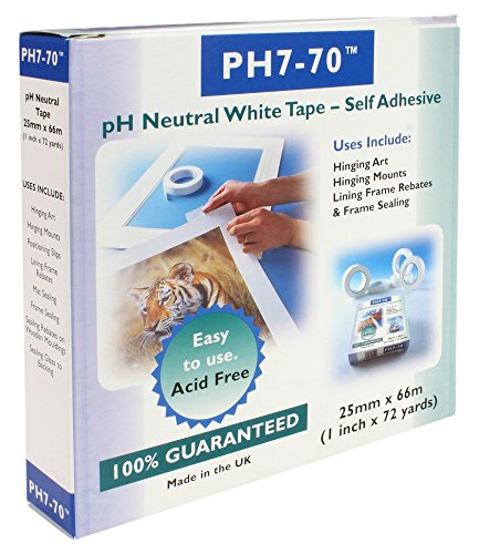 PH7-70 Acid Free Conservation Mount fixing/Frame seal White Tape ...