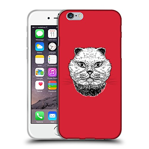GoGoMobile Coque de Protection TPU Silicone Case pour // Q05220601 gros chat Alizarine // Apple iPhone 6 PLUS 5.5""