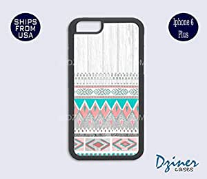 iPhone 6 Plus Case - White Wood Aztec Pattern iPhone Cover (NOT REAL WOOD)