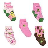 John Deere Girls 5 pack Crew Socks (Baby)