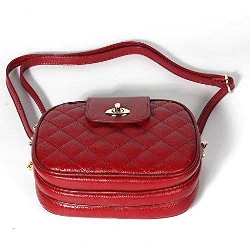 Bloqueo Ideal Sucastle para Genuino de a Genuina bolsos 2 Gran 4 Mujer Hecho hombro Mano Cuero RFID viaje y trabajo Capacidad qwq6xzrZW