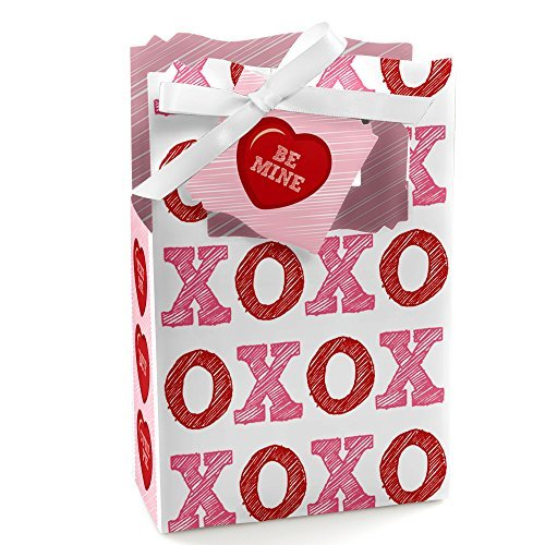 Valentine's Day Conversation Hearts - Party Favor Boxes - Set of 12