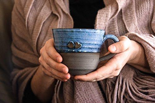 Rustic Stoneware Mug - Ceramic Mug, Ceramic Cup, Coffee Cup, Stoneware Mug, Clay Mug, Off-White Mug, Large Mug, Rustic Mug, Espresso Mug, Soup Mug, Ceramic Coffee Mug, Ceramic Cactus Mug Large, Romantic Mug