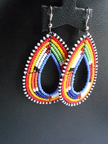 Amazon.com: Tribal maasai/masai earrings, Hoop earrings