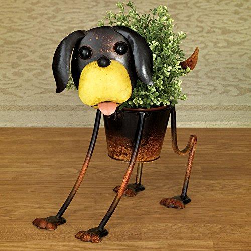 Bits And Pieces   Beagle Planter   Outdoor Dog Urn Planter   Cute Garden  Statue