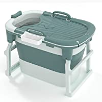 Portable Deep Bathtub, Soaking Standing Bath Tub, Folding Bathtub can sit and bathe, for Adults and Children 40inches…