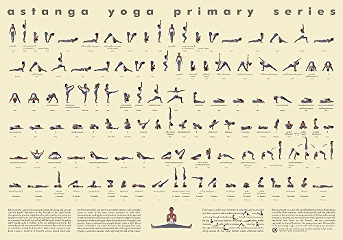 112 Posture Yoga Chart - Ashtanga Primary Series - Small Floor Use Version by Mysore Resources