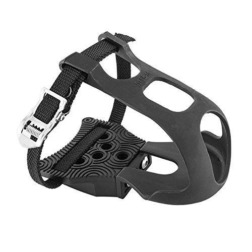 - Exustar Clipless Adapter Pedal with Toe Clips & Straps Cleats Sold