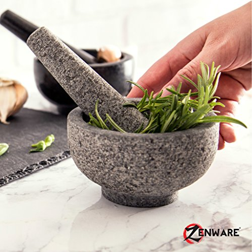 Zenware Heavyweight Mortar and Pestle - Black Granite by Zenware (Image #7)