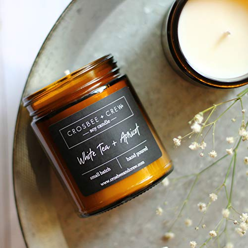 White Tea + Apricot Soy Candle (Small Ginger Jar No Lid)