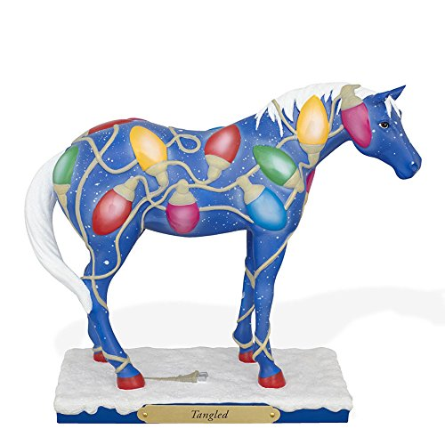 Trail of Painted Ponies Tangled Christmas Lights Horse Fi...