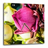 3dRose Danita Delimont - Flowers - Thailand, Chiang Mai, Flowers at the Thai Market Place - 15x15 Wall Clock (dpp_276974_3)