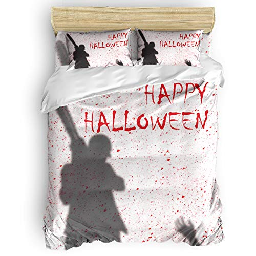 OxOHome Happy Halloween Bedding Sets Horror Bloody Chainsaw