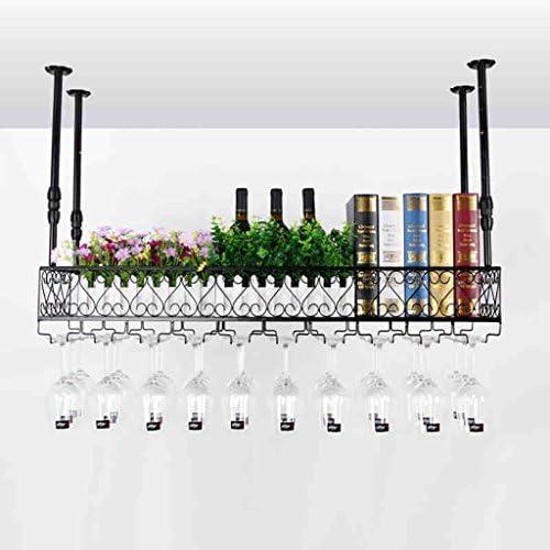 YANFEI SHOP2-フラワースタンド ワイングラスラック、シェルフワイングラスホルダー、ワイングラスラック、ワイングラスラック、シャンパングラスラック、ガラス器具ラック フラワースタンド-5.14 (Size : 120*25cm)