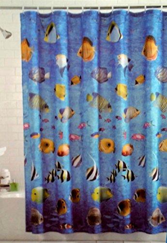 MAINSTAYS Tropical Fish Shower Curtain