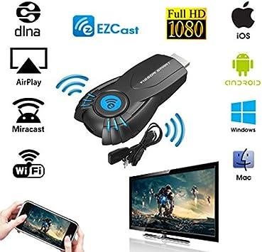 MU EZcast Smart TV Palo EZ lanzó Android Mini PC miracast Espejo echado Dongle WiFi iPush mejor que google chrome elenco Chromecast: Amazon.es: Electrónica