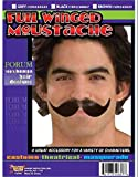 Forum Novelties 50857 Full Winged Moustache, Black