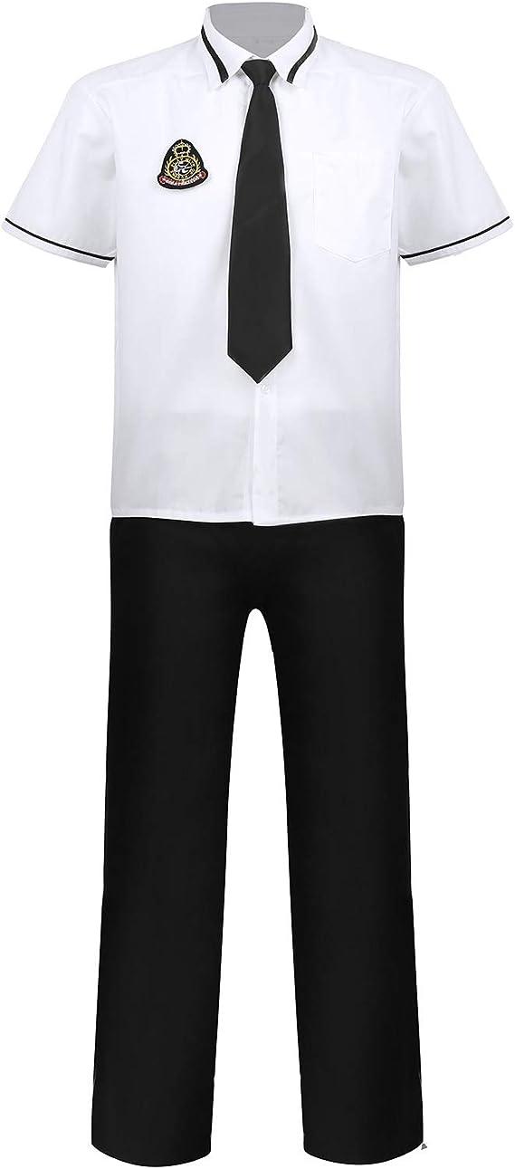 Inlzdz - Conjunto de 4 piezas de uniformes escolares de manga ...