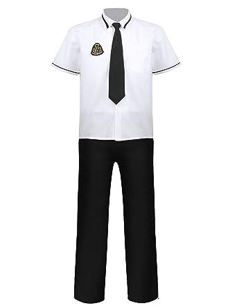 MSemis Uniforme Escolar para Chico Hombre Traje Colegial Disfraz ...
