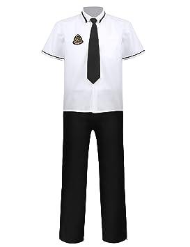 IEFIEL - Juego de 4 Camisetas de Corbata y pantalón y Insignia ...