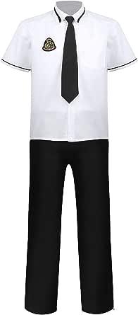 ranrann Uniforme de Escolar para Hombre Chico Disfraz de ...