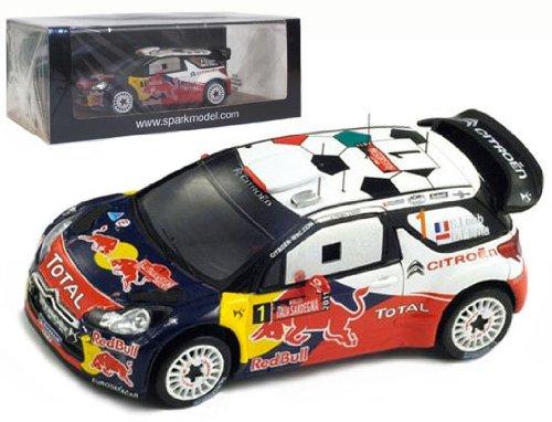 1/43 シエトロン DS3 2011年WRCサルディーニャラリー優勝 #1 ドライバー:S.Loeb/D.Elena S33006