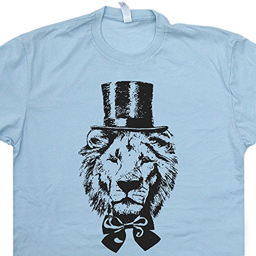XL - Lion Top Hat T Shirt Funny Vintage Lions Retro Animal Shirts Zoo Circus Cute Cool Graphic Detroit Mens Womens Kids Tee Shirtmandude (Vintage Top Hat T-shirt)